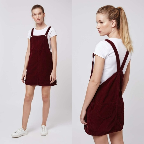 100% quality limited quantity reputation first Topshop TALL MOTO Cord Pinafore Dress